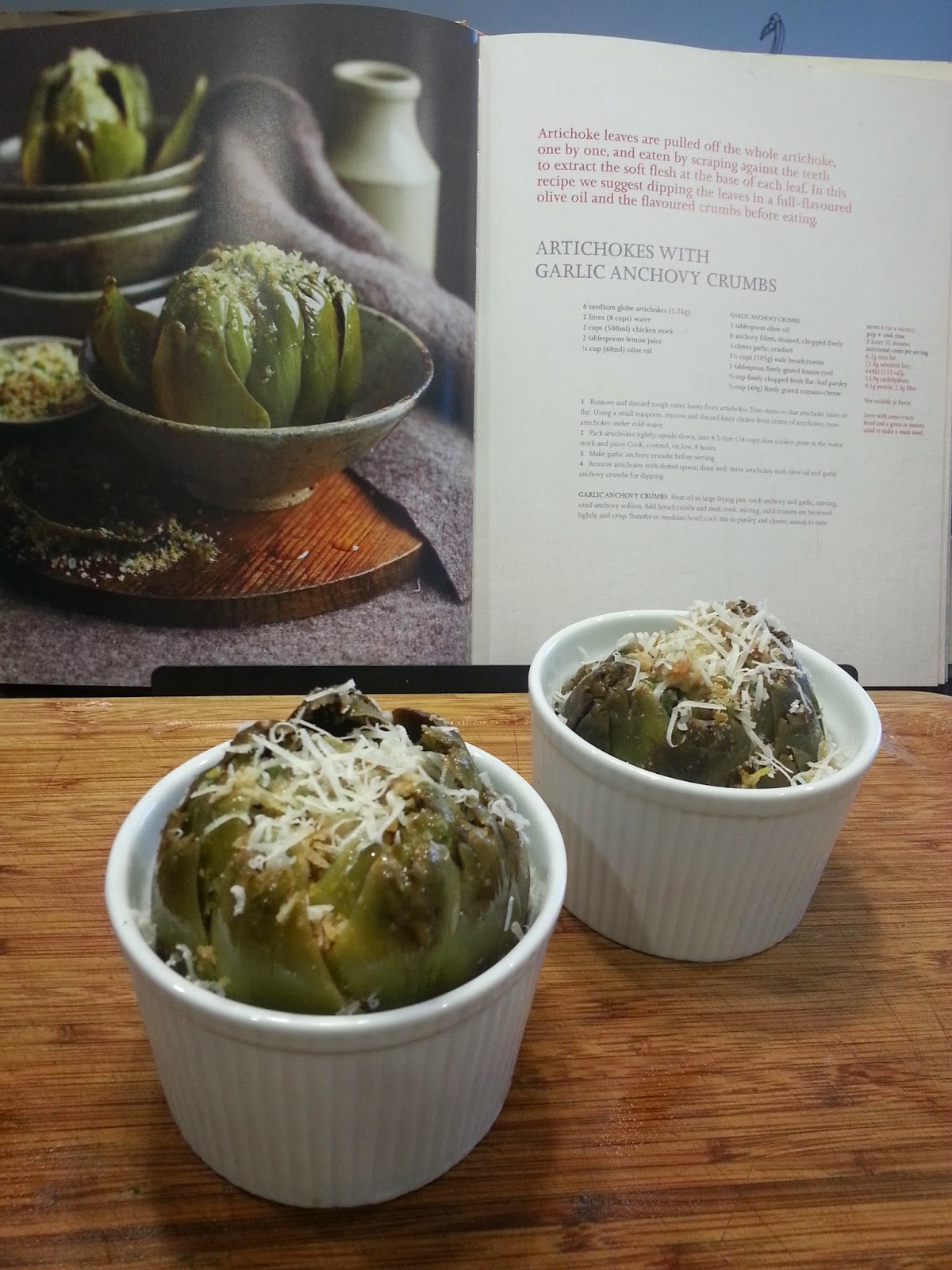 Jarrah Jungle: Recipe: Slow Cooked Artichokes Stuffed With ...