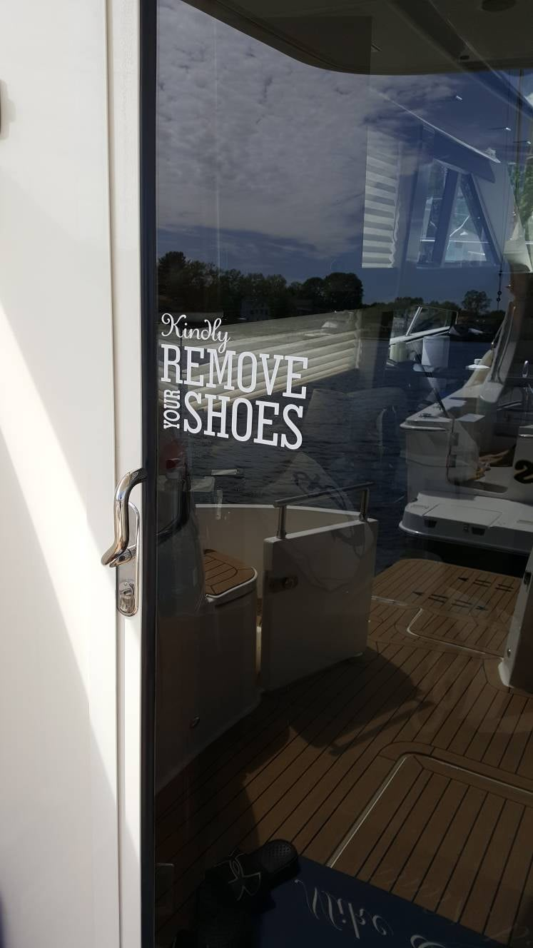 Kindly Remove Your Shoes or Scrub the Floors Decal   Vinyl ...