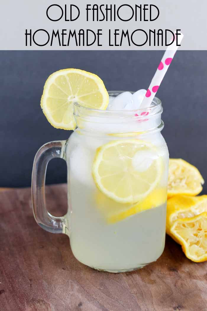 Old Fashioned Homemade Lemonade for One! - The Country ...