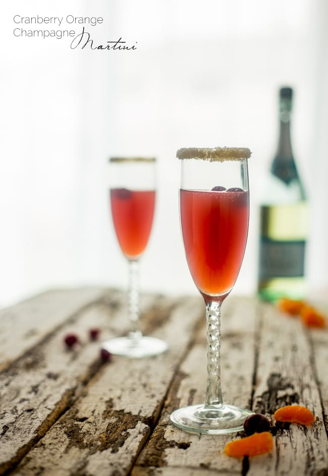Orange Cranberry Cocktail with Champagne - Food Faith Fitness