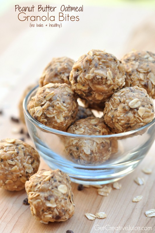 Peanut Butter Oatmeal Energy Bites - Creative Juice
