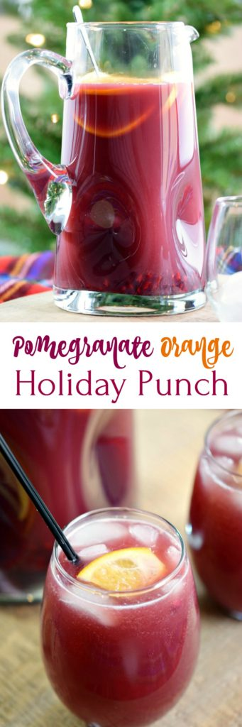 Pomegranate Orange Holiday Punch - Cooking With Curls