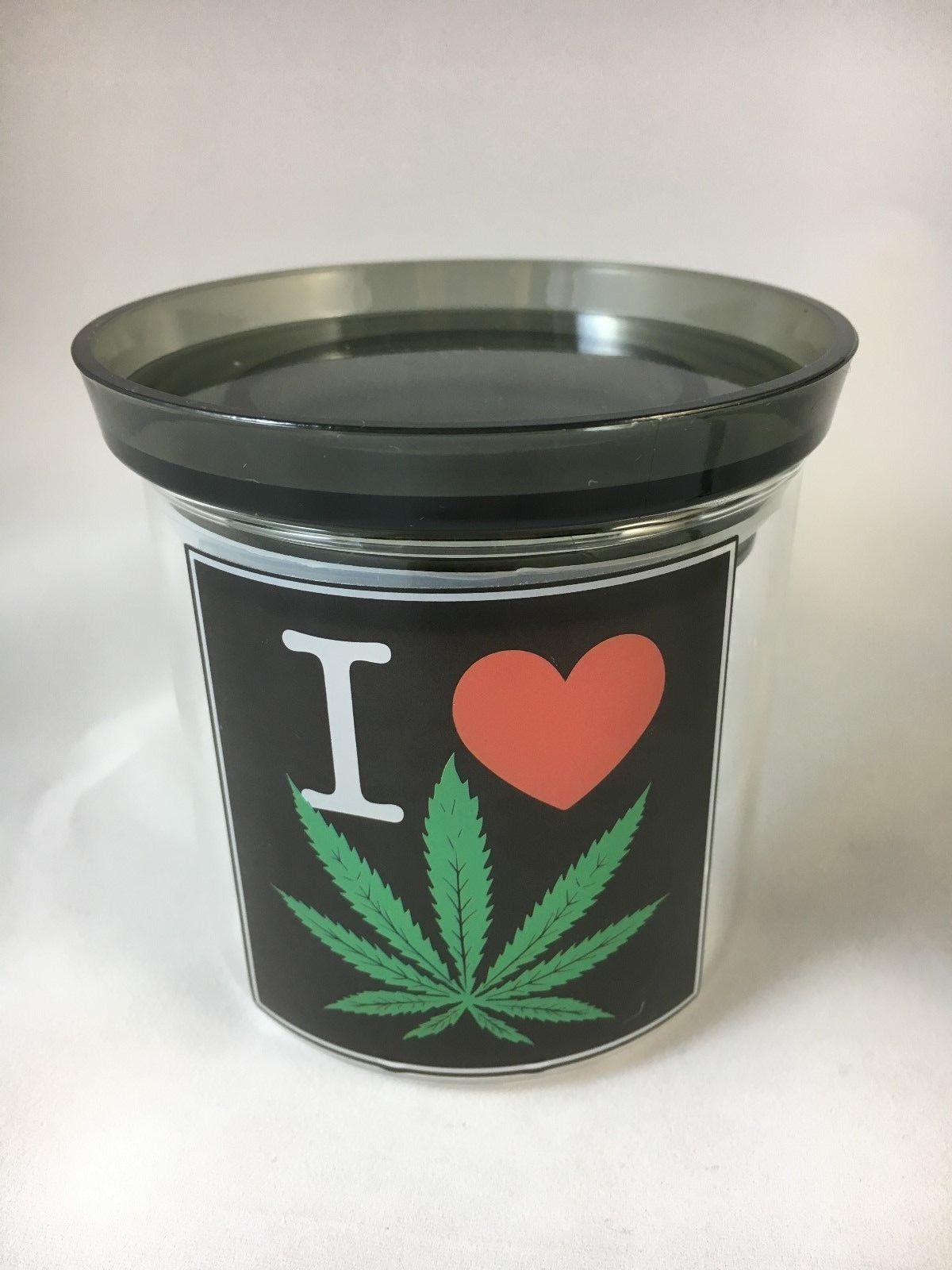 Pop top glass herb jar with lid store herb lollies coffee ...