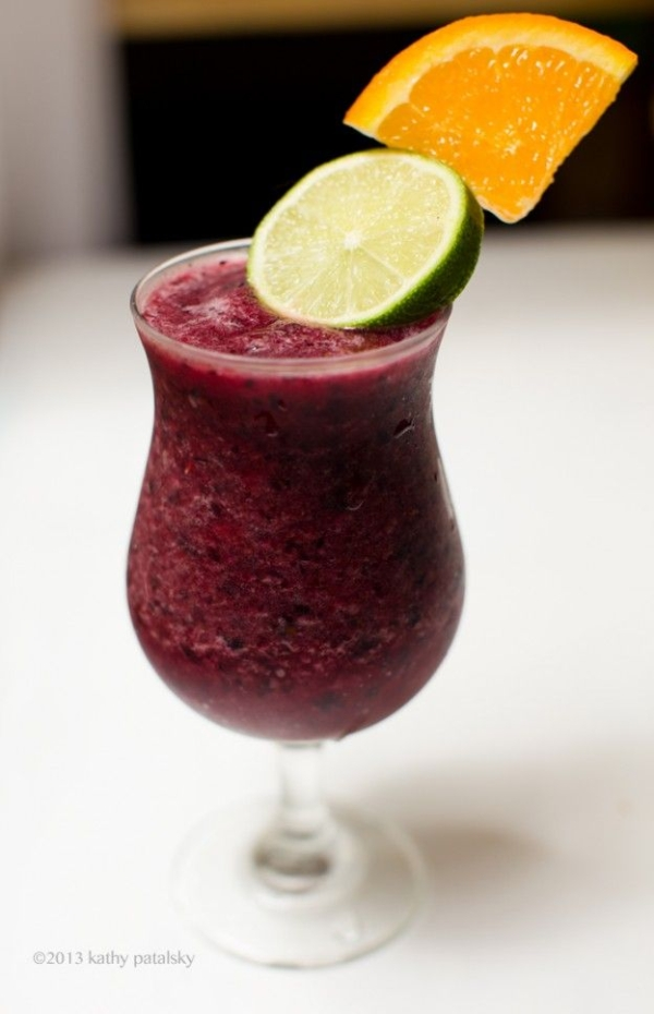 Sangria Smoothie Mocktail 1/2 cup blueberries, frozen 1/2 ...