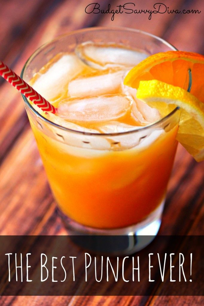 The Best Punch Ever | Recipe | Orange Party Ideas ...
