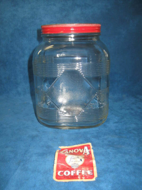 Vintage Glass Coffee Jar Shop Collectibles Online Daily
